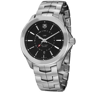 Tag Heuer Men's WAT201A.BA0951 'Link' Black Dial Stainless Steel Automatic Watch
