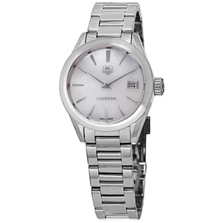 Tag Heuer Women's WAR1311.BA0773 'Carrera' Mother of Pearl Dial Stainless Steel Swiss Quartz Watch