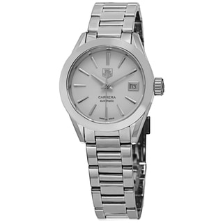 Tag Heuer Women's WAR2416.BA0770 'Carrera' Mother of Pearl Dial Stainless Steel Automatic Watch