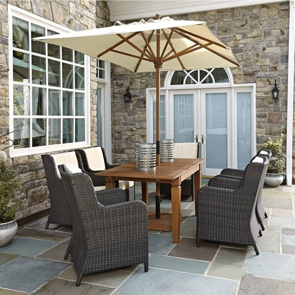 Bali Hai 7PC Outdoor Dining Set with Umbrella