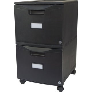 Storex 2-drawer Mobile File Cabinet with Lock, Legal/ Letter