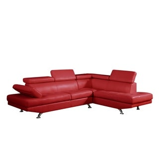Red Two-piece Sectional