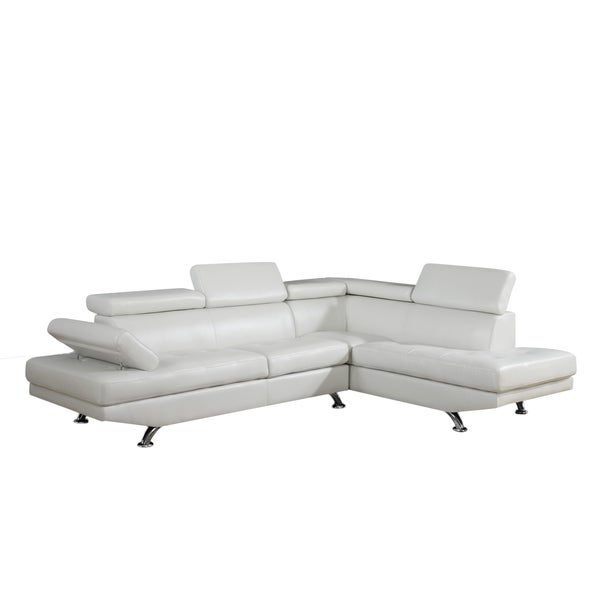 White Two-piece Sectional