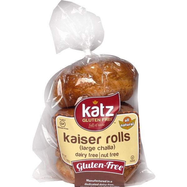Katz Gluten-free Large Kaiser Challah Rolls (2 Pack)