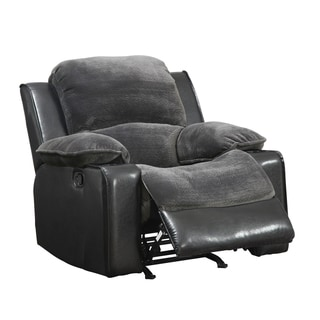 Rocker Recliner Grey/ Black Chair