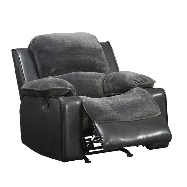 Rocker Recliner Grey/ Black Chair