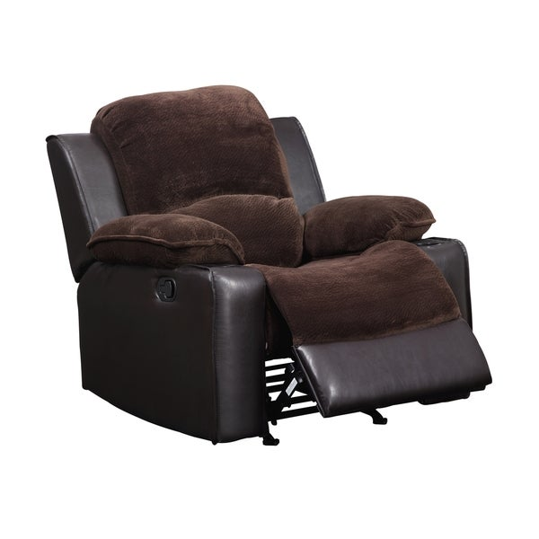 Rocker Recliner Chocolate Brown Chair