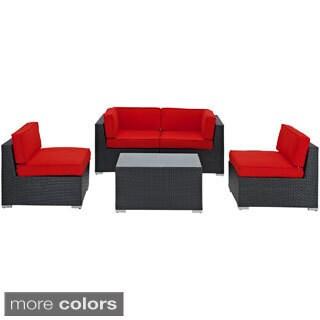 Camfora Outdoor Wicker Patio 5-piece Sofa Set
