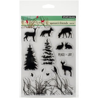 "Penny Black Clear Stamps 5""X7.5"" Sheet-Nature's Friends"