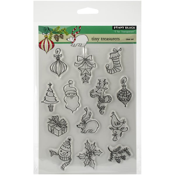 """Penny Black Clear Stamps 5""""X7.5"""" Sheet-Tiny Treasures"""