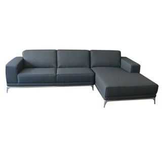 Aurelle Home Napa Grey Sectional Right Sofa