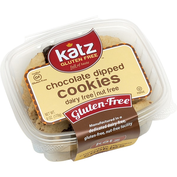 Katz Gluten-free Chocolate Dipped Cookies (2 Pack)
