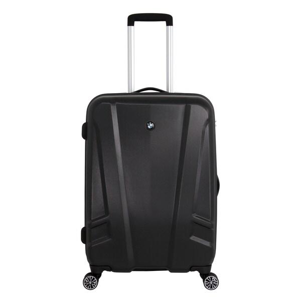 BMW 23-inch Medium Black Hardside Spinner Upright Suitcase