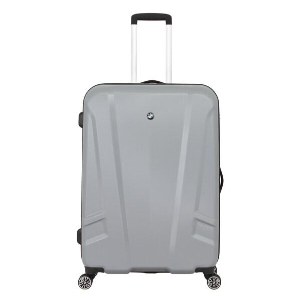 BMW 27-inch Silver Medium Hardside Spinner Upright Suitcase