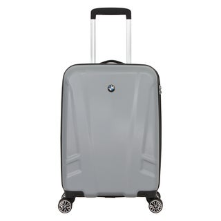 BMW Silver 19-inch Hardside Carry-On Spinner Upright Suitcase