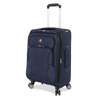 SwissGear Deluxe Blue 20-inch Carry-On Upright Spinner Suitcase