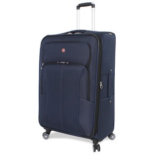 SwissGear Deluxe Blue 29-inch Large Upright Spinner Suitcase