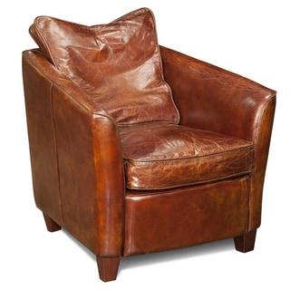 Aurelle Home Brown Club Chair