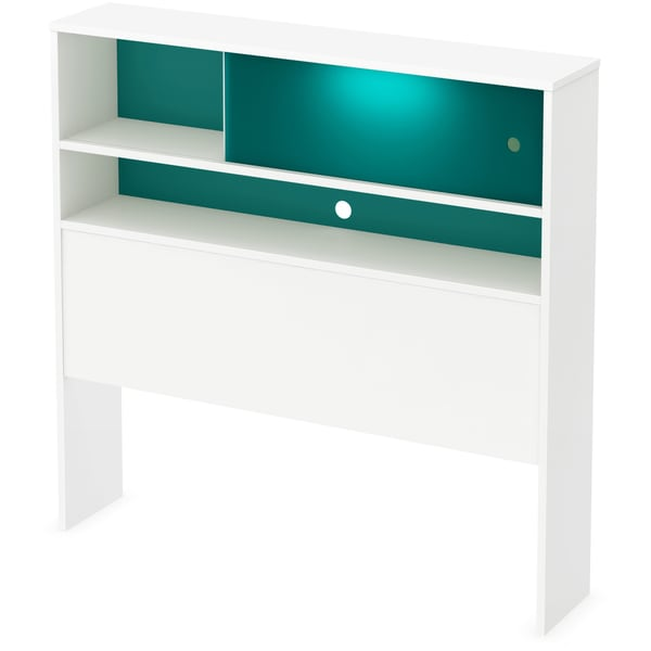 South Shore 'Little Monsters' White and Turquoise Twin Headboard with Night Light