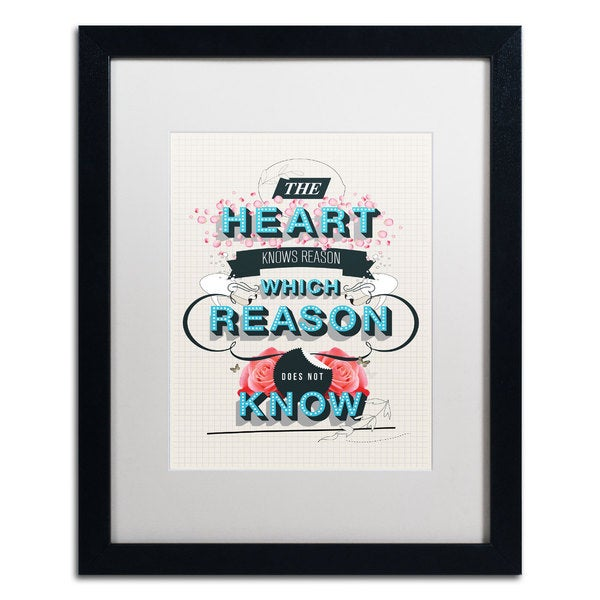 Kavan & Co 'The Reason' Framed Matted Art