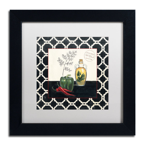 Marco Fabiano 'Parsley and Peppers' Framed Matted Art