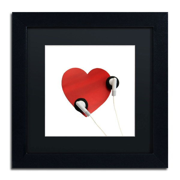 Beata Czyzowska Young 'Listen to Your Heart' Framed Matted Art