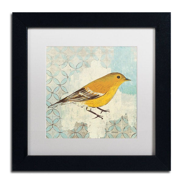 Kathrine Lovell 'Pine Warbler' Framed Matted Art