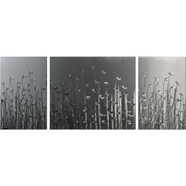 "'Leaves of Grass' XL Metal Wall Art (24"" x 59"")"