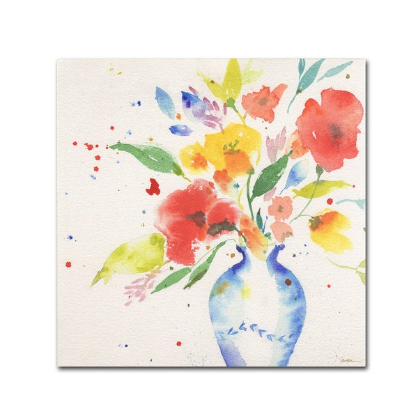 Sheila Golden 'Vibrant Bouquet' Canvas Art 14778644