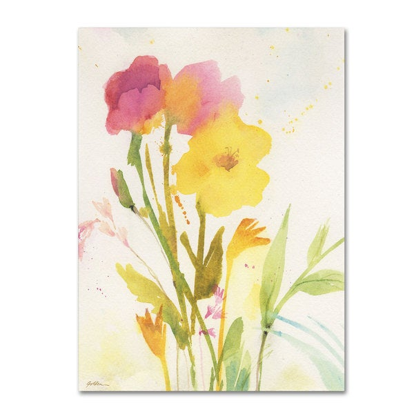 Sheila Golden 'Wildflowers Against the Sky' Canvas Art