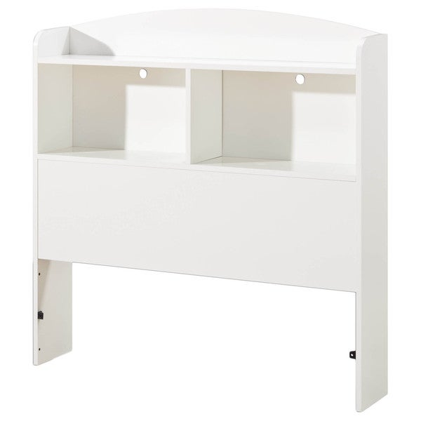 South Shore Logik Twin Bookcase Headboard, Pure White
