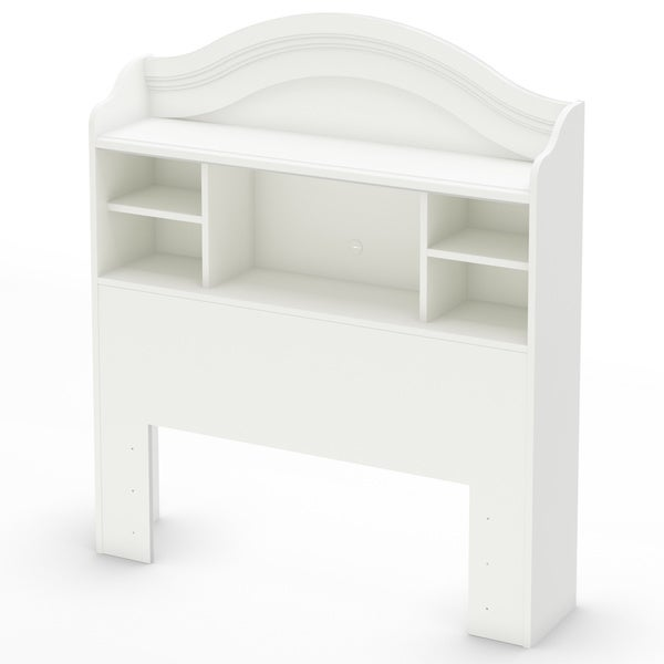 South Shore Savannah Twin White Bookcase Headboard
