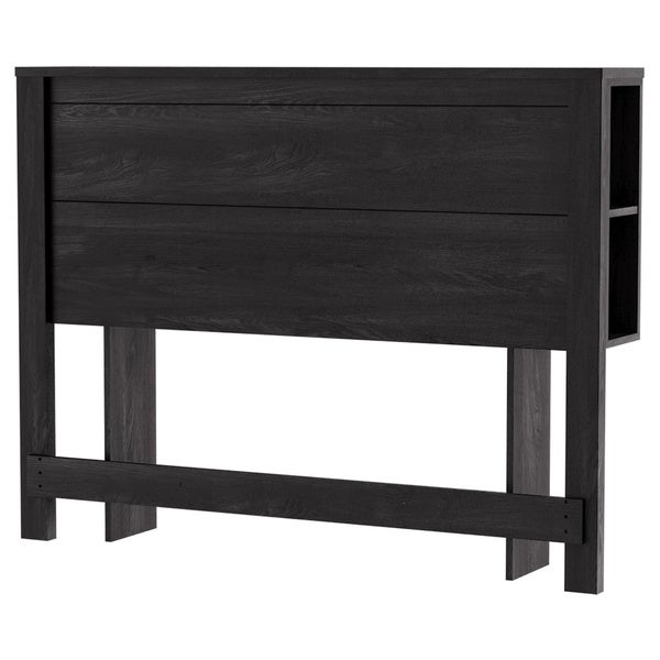 South Shore Fynn Full Headboard with Storage, Grey Oak