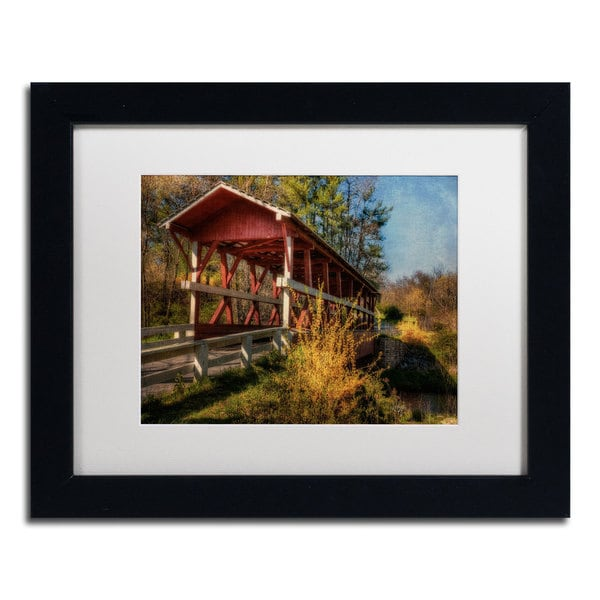 Lois Bryan 'Crossing Shawnee Creek' Framed Matted Art