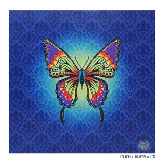 Chesta 'Colors in Motion Butterfly' Fiber Optic Canvas Art