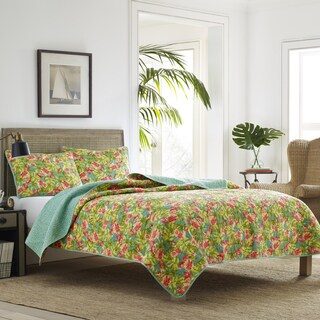 Tommy Bahama Flamingo Road Reversible 3-piece Cotton Quilt Set