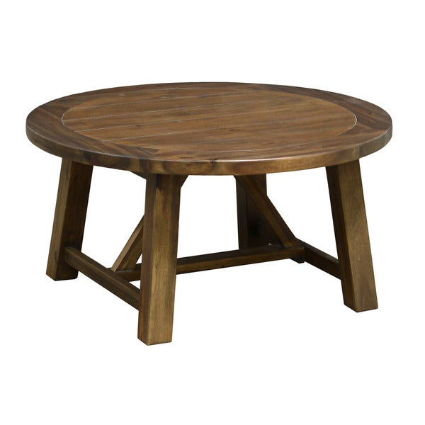 Kosas Home Kosas Collections 39 Aubrey 39 36 Inch Round Wood Coffee Table