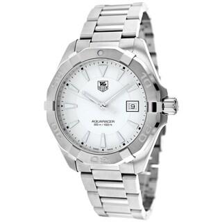 Tag Heuer Men's WAY1111.BA0910 Aquaracer Round Silvertone Bracelet Watch