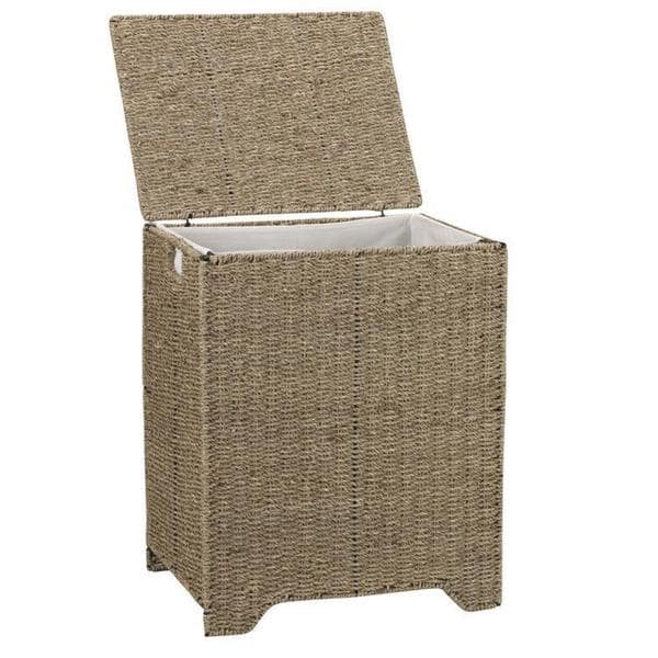 Househould Essentials Seagrass Single Sorter Laundry Hamper with Removable Bag