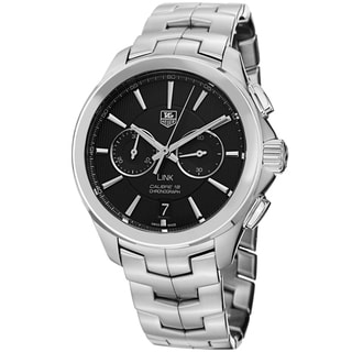 Tag Heuer Men's CAT2110.BA0959 'Link' Black Dial Stainless Steel Chronograph Automatic Watch