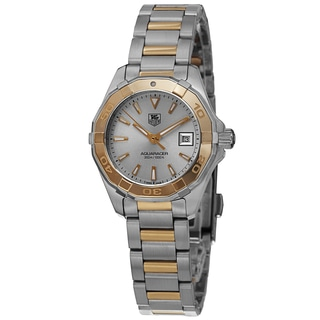 Tag Heuer Women's WAY1455.BD0922 '300 Aquaracr' Silver Dial Two Tone Quartz Watch