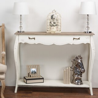 Bourbonnais Wood Traditional French Console Table