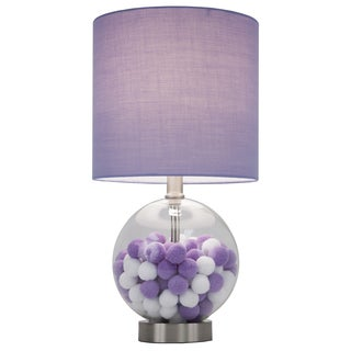 Purple Cotton Ball Table Lamp