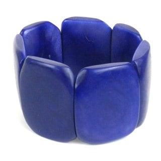 Faire Collection Ultraviolet Polished Tagua Nut Bracelet (Ecuador)