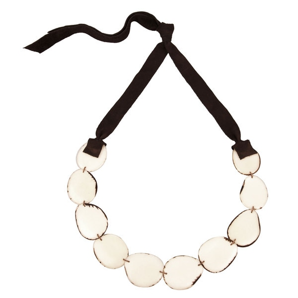 Faire Collection Flora Necklace in Ivory (Ecuador)