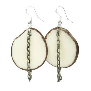 Faire Collection Floresta Tagua Earrings in Ivory (Ecuador)