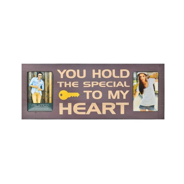 Melannco You Hold The Special Key To My Heart Collage 2-opening Picture Frame
