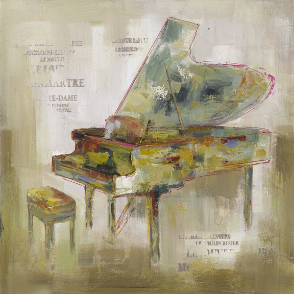 Paris Piano Original Hand painted Wall Art
