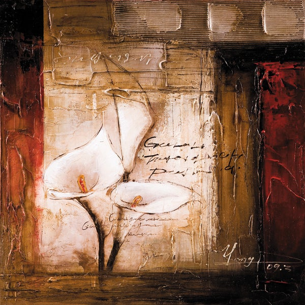 Callas In The Field II Original Hand painted Wall Art
