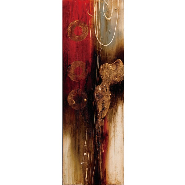 Red Wood Original Hand painted Wall Art